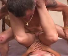 Older guy fucks amateur milf