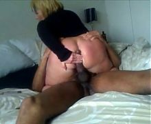 Horny Cheating Wife visiting BBC after work and riding cock