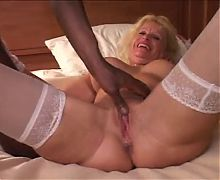 Hot Blonde Granny Cougar Gets It From BBC