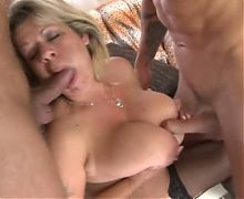 hot milf with large tits threesome